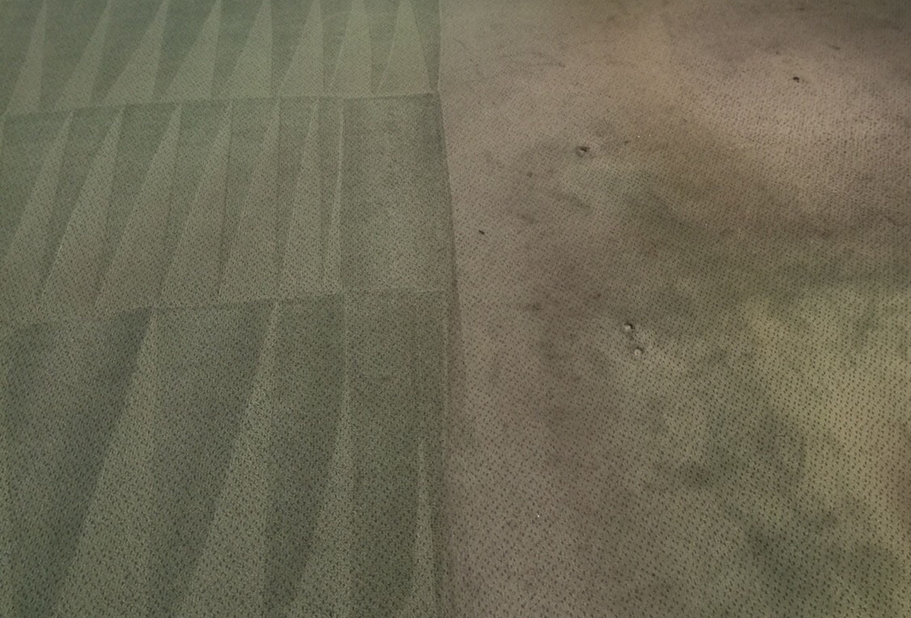 Example of synthetic carpet cleaning