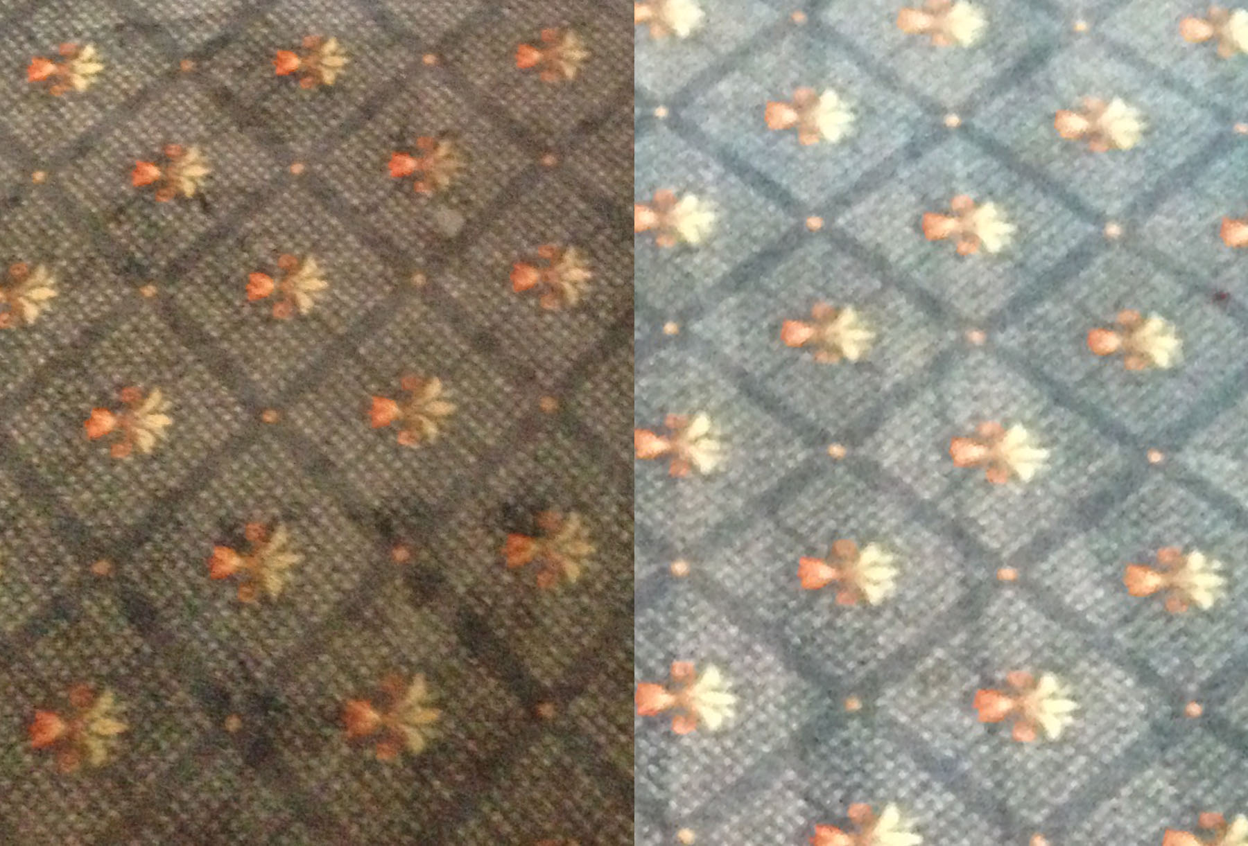 Example of carpet cleaning